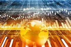 Stock market chart Stock Image