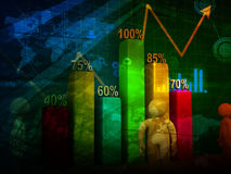 Stock market chart Stock Photos