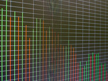 Stock market chart, graph on black background. Royalty Free Stock Image