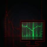 Stock market chart in monitor Stock Photo