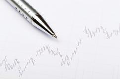 Stock market chart Stock Photography