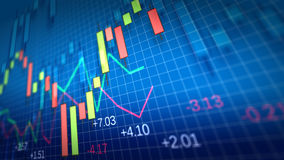 Stock Market Chart. Shallow Depth of Field. Royalty Free Stock Photo