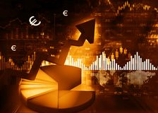 Stock market chart. Digital illustration Royalty Free Stock Images