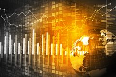 Stock market chart. Digital illustration Stock Image