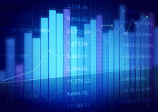 Stock market charts Royalty Free Stock Photography