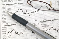 Stock Market Charts Stock Photography