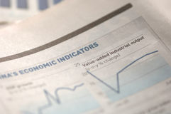Stock market charts. Business newspaper Stock Photo