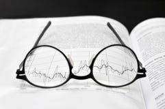 Stock market charts analysis Stock Photography