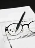 Stock market charts analysis Royalty Free Stock Photography