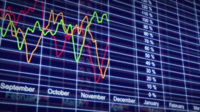 Stock Market charts in looped animation. HD 1080 stock footage