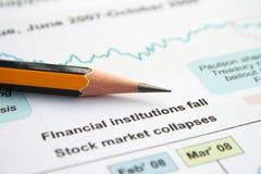 Stock market collapses Stock Photo