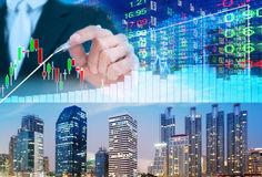 Stock market concept. Stock market background Royalty Free Stock Photography