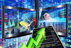 Stock market concept. Stock market background Stock Image