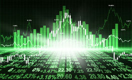Stock market concept Royalty Free Stock Images