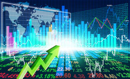 Stock market concept. And background Stock Photo