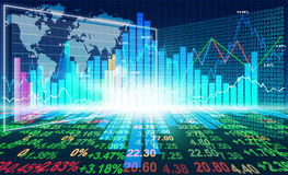 Stock market concept. And background Stock Photography