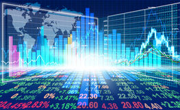 Stock market concept. And background Royalty Free Stock Photo