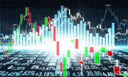 Stock market concept. And background Stock Photos
