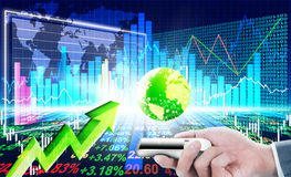 Stock market concept. And background Royalty Free Stock Photos