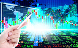 Stock market concept. And background Royalty Free Stock Images