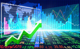 Stock market concept. And background Stock Images