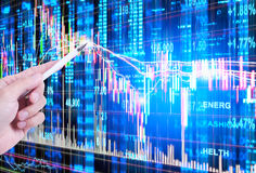 Stock market concept Stock Photography