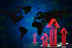 Stock market concept. Stock market concept and background Royalty Free Stock Photography