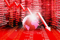 Stock market concept. Stock market crisis Royalty Free Stock Photography