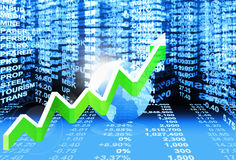 Stock market concept Stock Photos