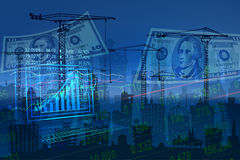 Stock Market Concept. Stock Market Concept and Financial background Royalty Free Stock Images