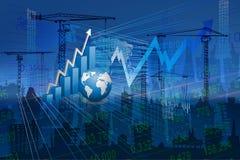 Stock Market Concept. Stock Market Concept and Financial background Royalty Free Stock Photo