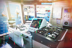 Stock market concept with Forward console in tanker background Stock Image