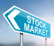 Stock market concept. Illustration depicting a sign with a stock market concept Royalty Free Stock Photography