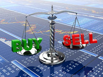 Stock market concept. Scale on financial graph. 3d Stock Photography
