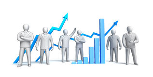 Stock market concept, stock illustration