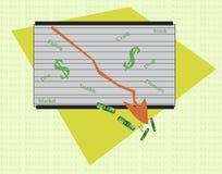 Stock Market Crash. Illustration of Stock Market crashing, or falling profits in a business vector illustration
