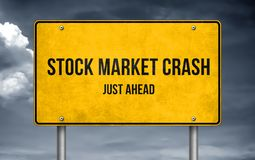 Stock Market Crash ahead stock photos