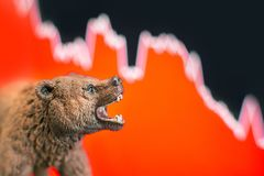 Stock market crash with chart royalty free stock photography