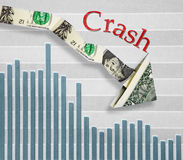 Stock market crash Stock Images