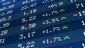Stock market crash, figures dropping on ticker display, global economic crisis. Stock image Stock Photos