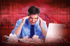 Stock market crash. Royalty Free Stock Image