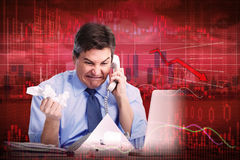 Stock market crash. Royalty Free Stock Photo