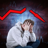 Stock market crash. Stock Images