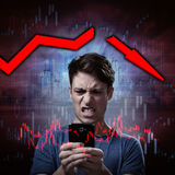 Stock market crash. Royalty Free Stock Photography