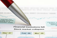 Stock market crise Royalty Free Stock Images