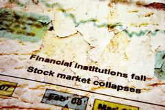 Stock market crise Stock Images