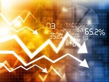 Stock market crisis Stock Photography