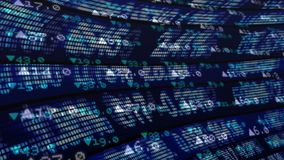 Stock market data against dark background. Digital animation of stock market data on digital screen with a dark background royalty free illustration