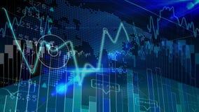 Stock market data and binary code vector illustration