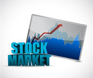 Stock market data graph illustration. Design graphic over white Royalty Free Stock Image